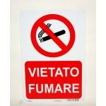 Cartello vietato fumare 20x30 cm in plastica rigida Letterfix scuola ufficio