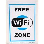 Cartello segnaletica free wifi zona targa Letterfix cm 20x30 in plastica