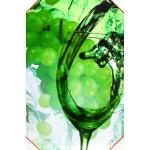 Quadro stampa digitale su legno raffigurazione grappolo uva 40x60x4 cm