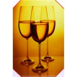 Quadro stampa digitale su legno raffigurazione calice vino 40x60x4 cm