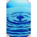 Quadro stampa digitale su legno raffigurazione goccia azzurra 40x60x4 cm