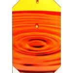 Quadro moderno stampa digitale su legno raffigurazione goccia arancio 40x60x4 cm