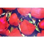 Quadro moderno stampa digitale su legno raffigurazione rose rosse 120x50x4 cm