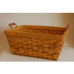 Cesto portabiancheria cesta in corteccia con manici