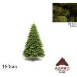 Albero di Natale 150 cm verde realistico molto folto 658 punte
