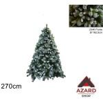 Albero di Natale innevato 270 cm verde 2346 punte abete realistico molto folto
