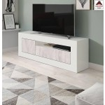 Mobile tv moderno in legno bianco 2 ante base televisione living soggiorno