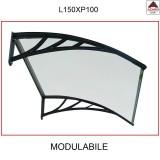Pensilina policarbonato compatto 150x100 tettoia trasparente modulabile esterno