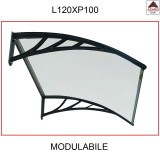 Pensilina policarbonato compatto tettoia trasparente modulabile con supporti