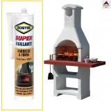 Mastice refrattario Bostik silicone sigillante per barbecue alta temperatura