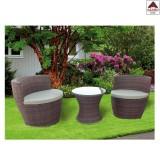 Salotto giardino in poli rattan salottino da esterno set 2 poltrone tavolino