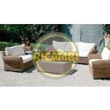 Set 4 cuscini bianchi x divano 2 posti salotto da giardino