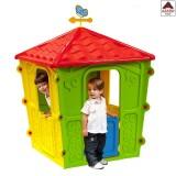 Casetta bambini da giardino casa gioco in plastica multicolore 108x108x152h