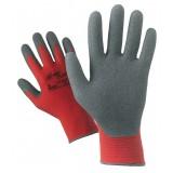 Pa 12 -  guanti nylon/lattice rosso/grigio tg.9