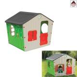 Casetta per bambini da giardino asilo casa gioco bimbi in plastica 140x108x115h