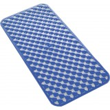 Gedy art.973671 tappeto vasca pvc antimuffa geo 35x68 blu