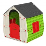 Casa casetta per bimbi cm.102x90x109h in resina termoplastica