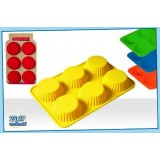 Stampi silicone per muffin stampini per dolci 7x7x3 cm colori assortiti