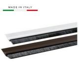 Sottoporta paraspifferi adesivo c/spazzola parafreddo in alluminio bianco mt.1