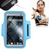 Custodia fascia da braccio sport azzurro per iphone 4 4s 5 5s 5c ipod