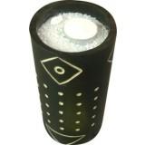 2 pz candela etnica bamboo con cera cilindrica cm.12x20