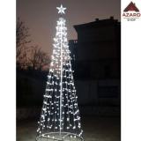 Albero di Natale luminoso 576 led luce fredda con stella luci esterno interno