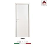 Porta interna a battente legno mdf laminato reversibile bianca 210x90 cm