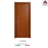 Porta interna a battente legno mdf laminato reversibile ciliegio 210x70 cm