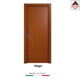 Porta interna a battente legno mdf laminato reversibile ciliegio 210x90 cm