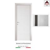Porta interna a battente legno mdf laminato reversibile frassino/bianco 210x70