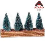 Set alberelli ornamentali per presepe cm.13x6 addobbo natalizio Natale natività