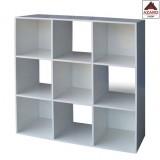Libreria moderna bianca scaffale design 9 cubi in lengo kit mobile soggiorno