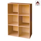 Libreria moderna ciliegio scaffale design 6 cubi ripiani kit mobile soggiorno