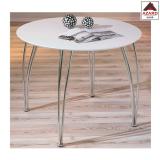 Tavolo cucina moderno bianco da pranzo tondo tavolino salotto in metallo legno