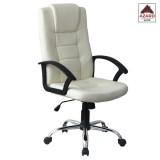 Poltrona sedia per ufficio presidenziale ergonimica girevole direzionale beige