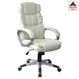 Poltrona per ufficio sedia presidenziale ergonimica girevole direzionale beige
