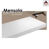 Mensola da parete muro bianca in legno moderna scaffale 80x25 cm design salotto