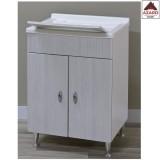 Mobile lavatoio per lavanderia in legno mdf lavapanni mobiletto 2 ante pilozzo