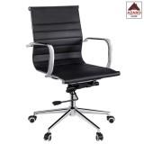 Poltrona per ufficio sedia ergonomica girevole direzionale presidenziale nera