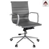 Poltrona per ufficio sedia ergonomica girevole direzionale presidenziale grigia