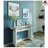 Tavolo consolle allungabile bianco salvaspazio mobile soggiorno moderno in legno
