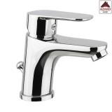 Miscelatore rubinetto bagno per lavabo lavandino monocomando moderno cromato