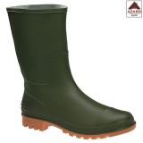 Stivali gomma uomo bassi da lavoro giardinaggio verdi pvc pesca pioggia n.45