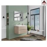Mobile bagno sospeso sotto lavabo moderno rovere con cassetti lavabo e specchio