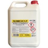 Pz 4 - acido muriatico cloridrico 'puro' al 33% lt.5 per incrostazioni