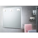 Gedy art.6005 specchio c/luci 55x55 bianco