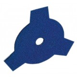 Disco per decespugliatore tosaerba 3 denti piatti in acciaio 255 mm