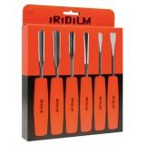 Set 6 sgorbie per legno iridium