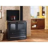Cucina economica in acciaio antracite 8,3 kW volume riscaldabile 186 m3
