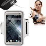 Custodia fascia da braccio bianco sport per iphone 4 4s 5 5s 5c ipod